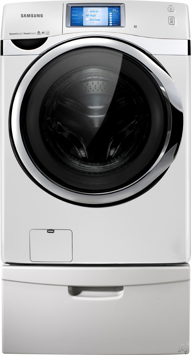 "Samsung DV457EVGSWR 27"" Electric Dryer with 7.5 cu. ft. Capacity, 14 Drying Cycles, 9 Options, Steam, U.S. & Canada DV457EVGSWR"