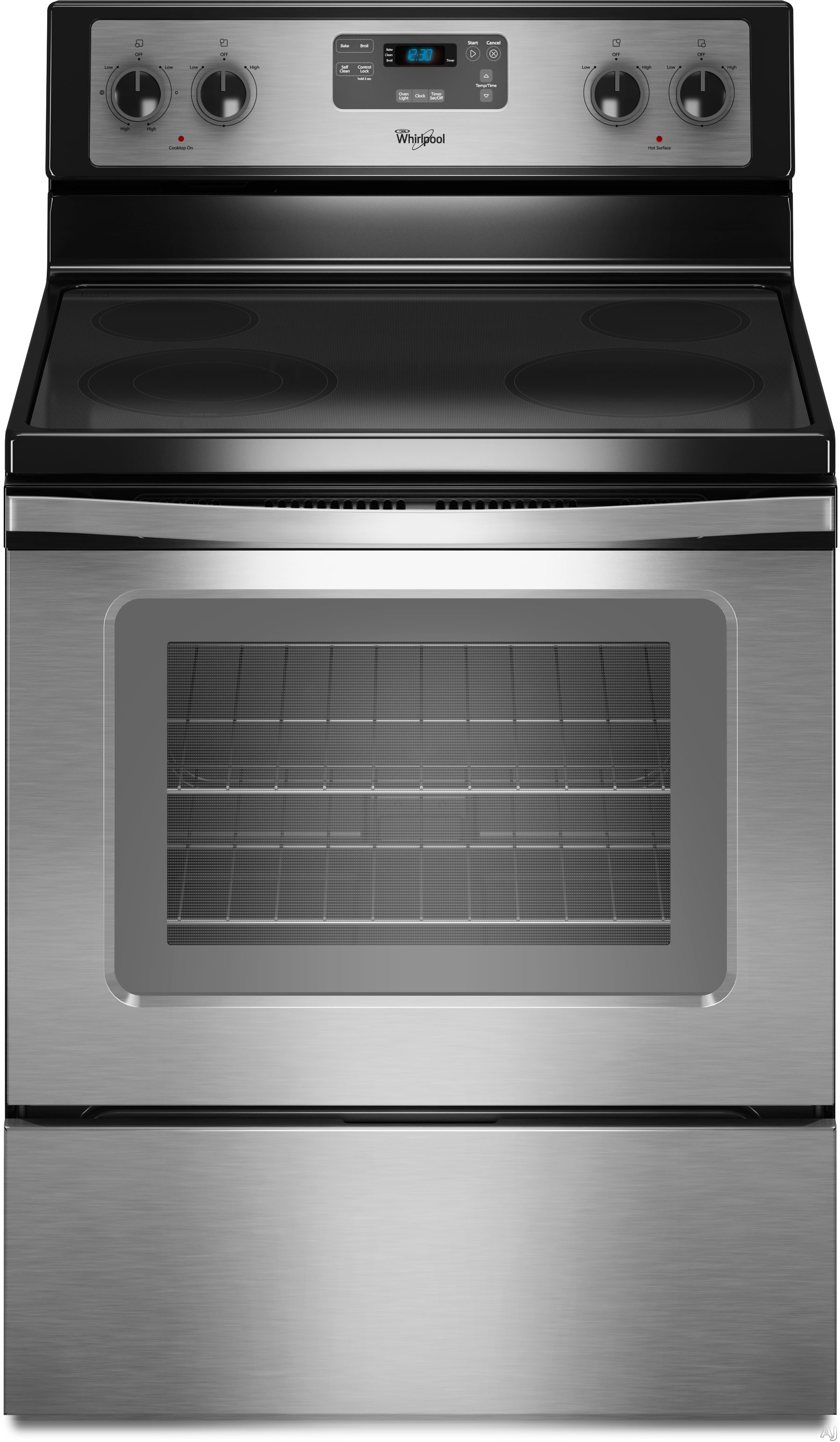 Whirlpool Wfe510s0as 30 Quot Freestanding Smoothtop Electric