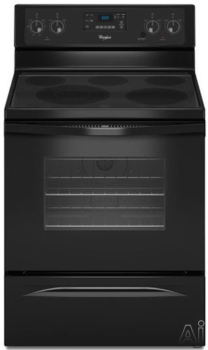 whirlpool wfe525c0bb 30 freestanding electric range with 5 smoothop burners 5 3 cu ft oven. Black Bedroom Furniture Sets. Home Design Ideas