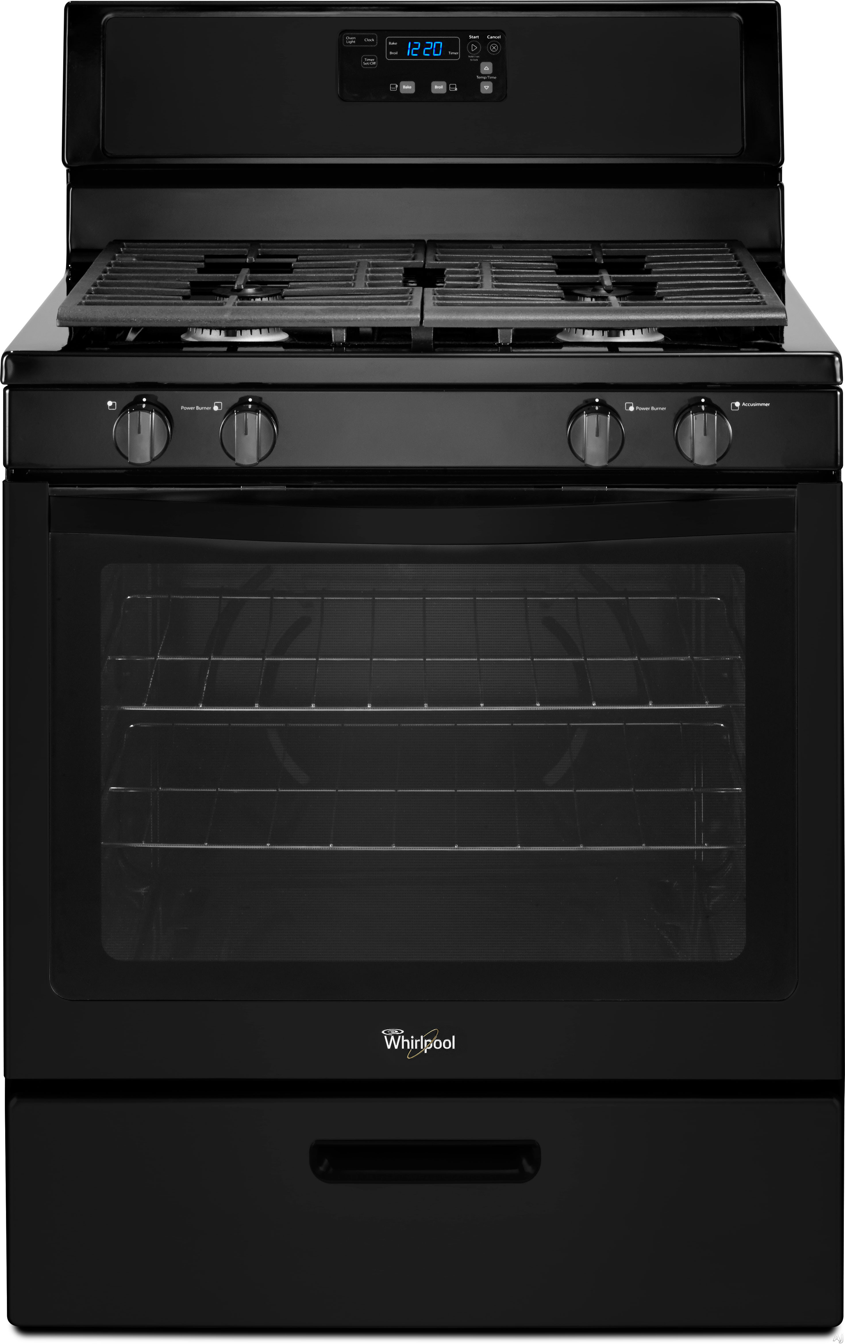 Whirlpool Countertop Stove Parts : Whirlpool WFG320M0BB 30 Inch Freestanding Gas Range with 4 Sealed ...