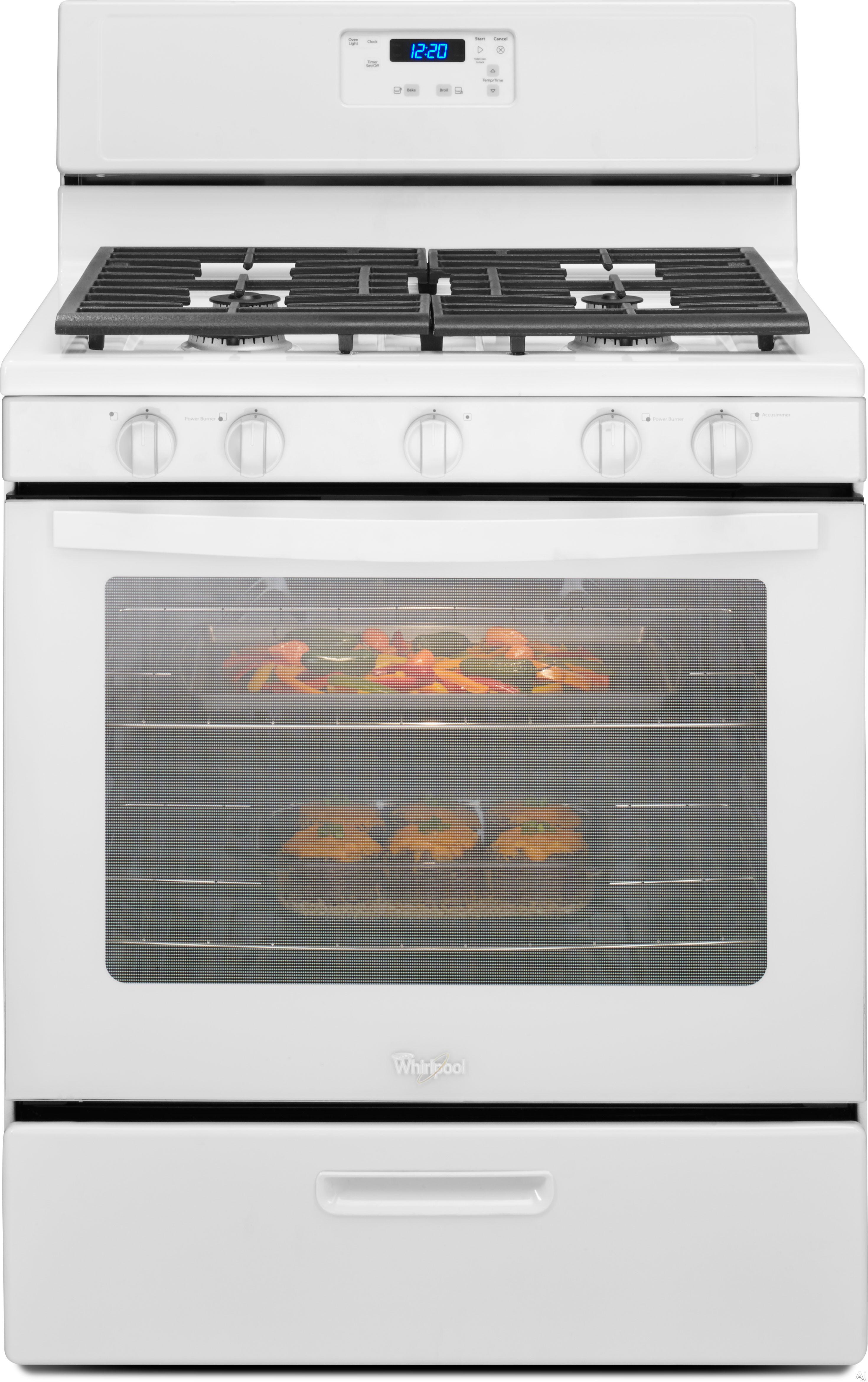 Whirlpool 5 burner gas range - Upc 883049290324 Product Image For 5 1 Cu Ft Gas Range In White Upcitemdb