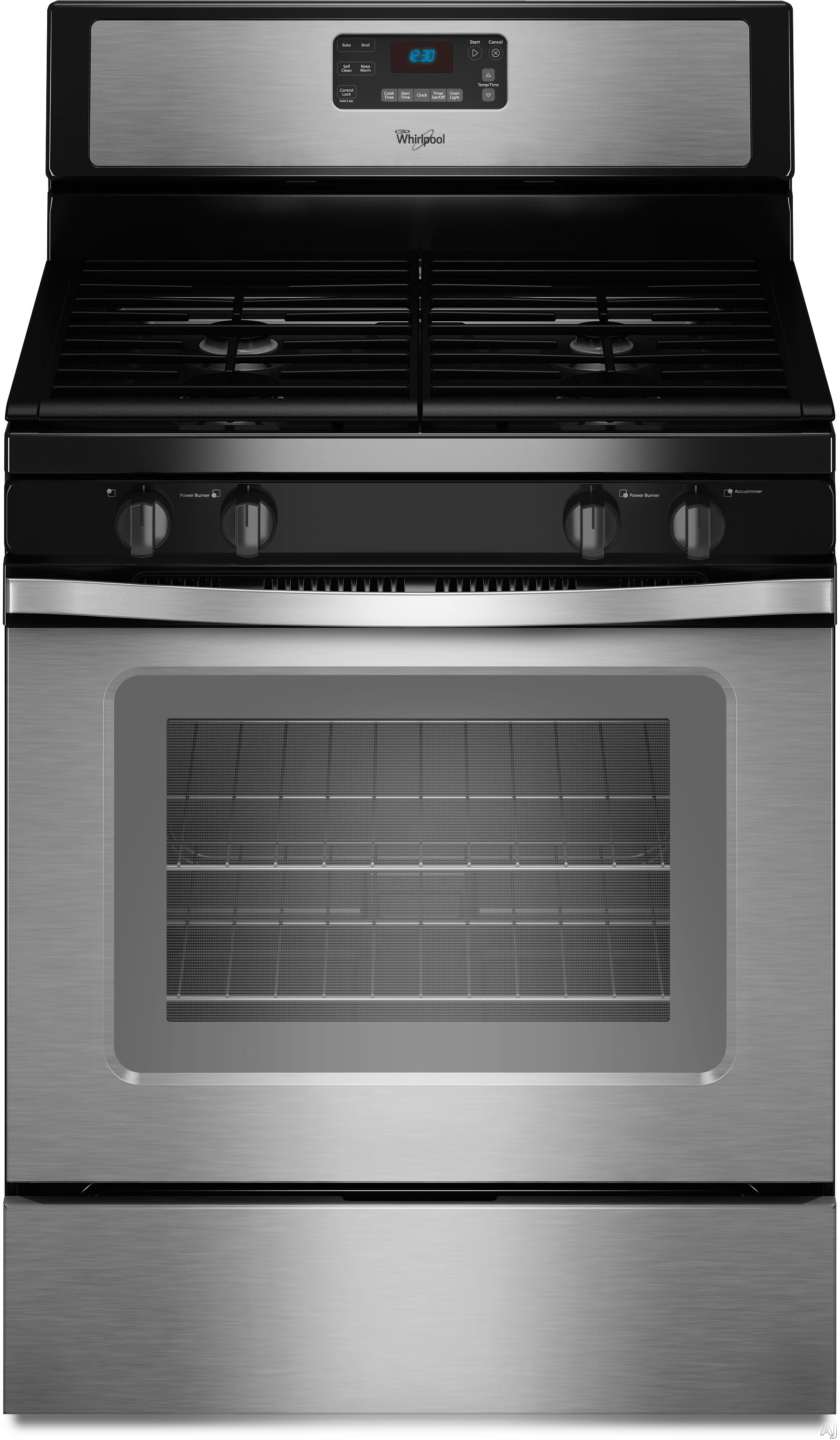 whirlpool wfg520s0as 30 freestanding gas range with 4 sealed burners 5 0 cu ft self cleaning. Black Bedroom Furniture Sets. Home Design Ideas