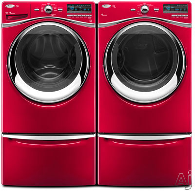 With Matching Washer and Premium Pedestals (Sold Separately)