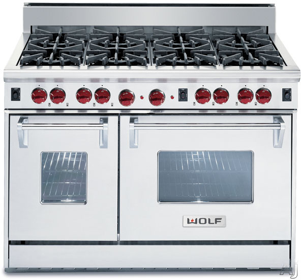 Wolf Gr488 48 Quot Pro Style Gas Range With 8 Dual Stacked