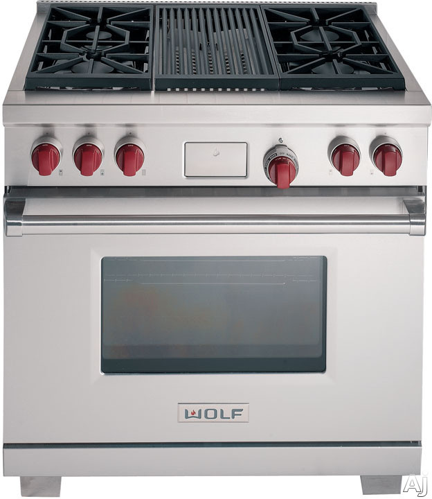 Stainless Steel with Red Knobs