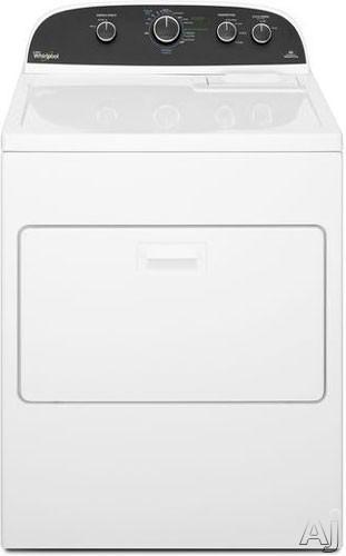"Whirlpool WGD4850BW 29"" Gas Dryer with 7.0 cu. ft. Capacity, 4 Temperature Settings, AccuDry Sensor, U.S. & Canada WGD4850BW"