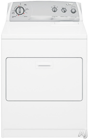 """Laundry - Whirlpool WGD5700SW 29"""" Gas Dryer With 7.0 Cu Ft Capacity 8 Cycles 4 Temperature Options Wrinkle Shield Option Interior Drum Light And Hamper Door"""