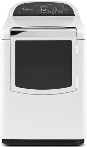 """Whirlpool Cabrio WGD8500BW 29"""" Gas Dryer with 7.6 cu. ft. Capacity, 14 Dry Cycles, EcoBoost Option, U.S. & Canada WGD8500BW"""