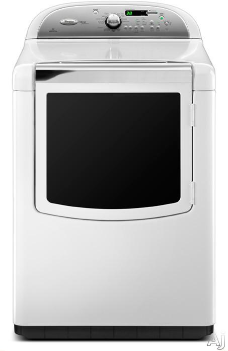 """Whirlpool Cabrio WGD8600YW 29"""" Gas Steam Dryer with 7.6 cu. ft. Capacity, 11 Drying Cycles, Enhanced, U.S. & Canada WGD8600YW"""