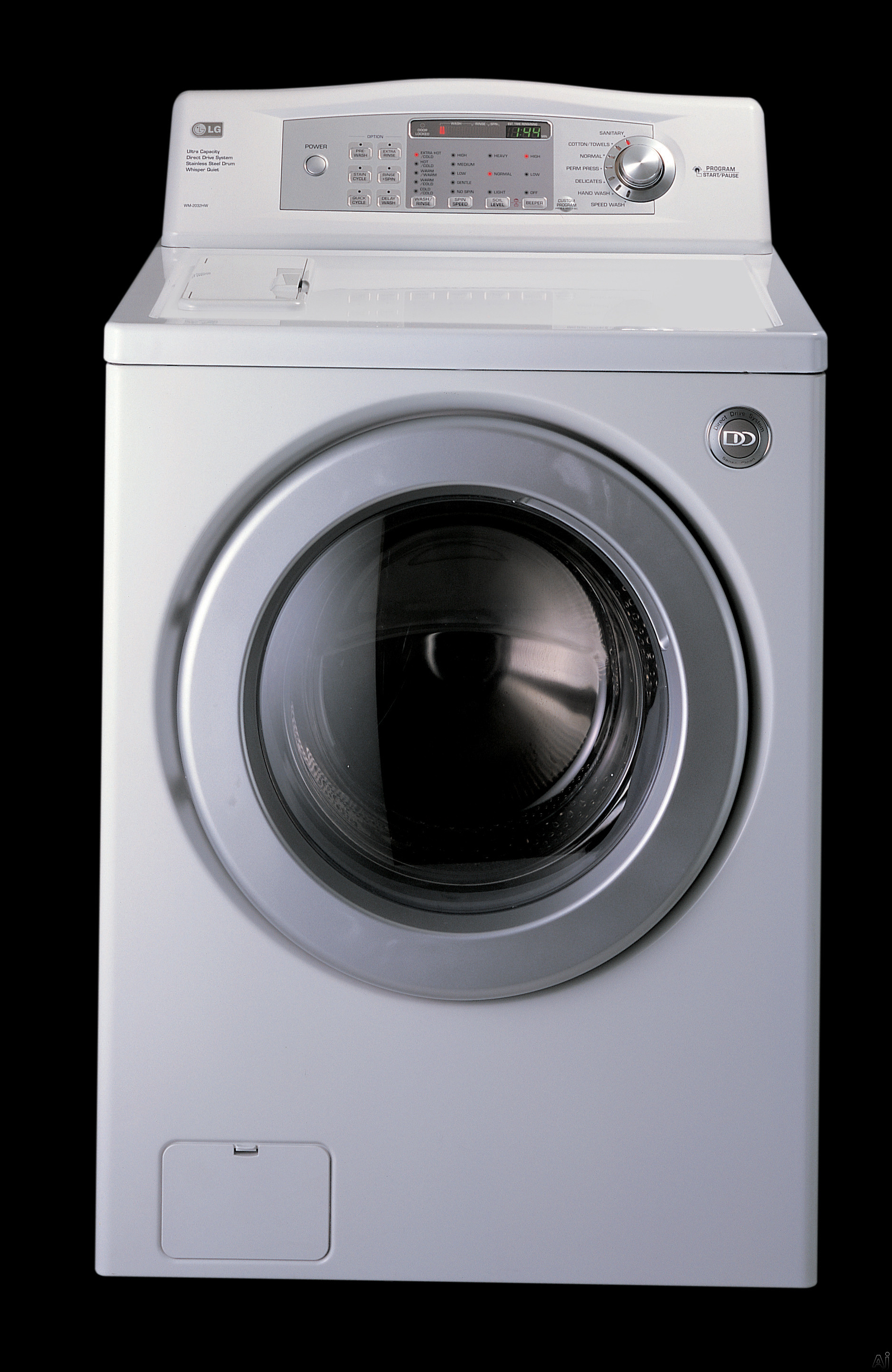 Lg Wm2032hw 27 Quot Front Load Washer W 3 72 Cu Ft Capacity