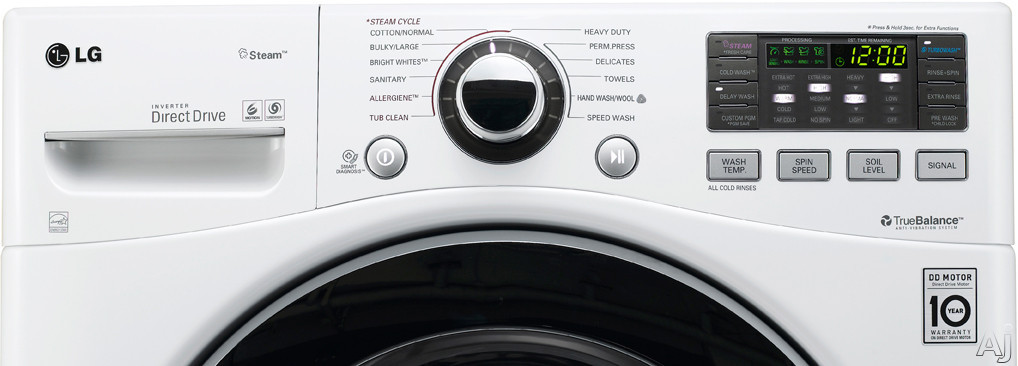 Lg Wm3070hwa 27 Quot Front Load Washer With 3 7 Cu Ft