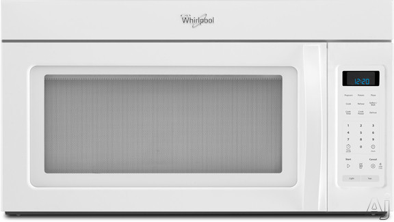 Whirlpool Wmh31017aw 1 7 Cu Ft Over The Range Microwave