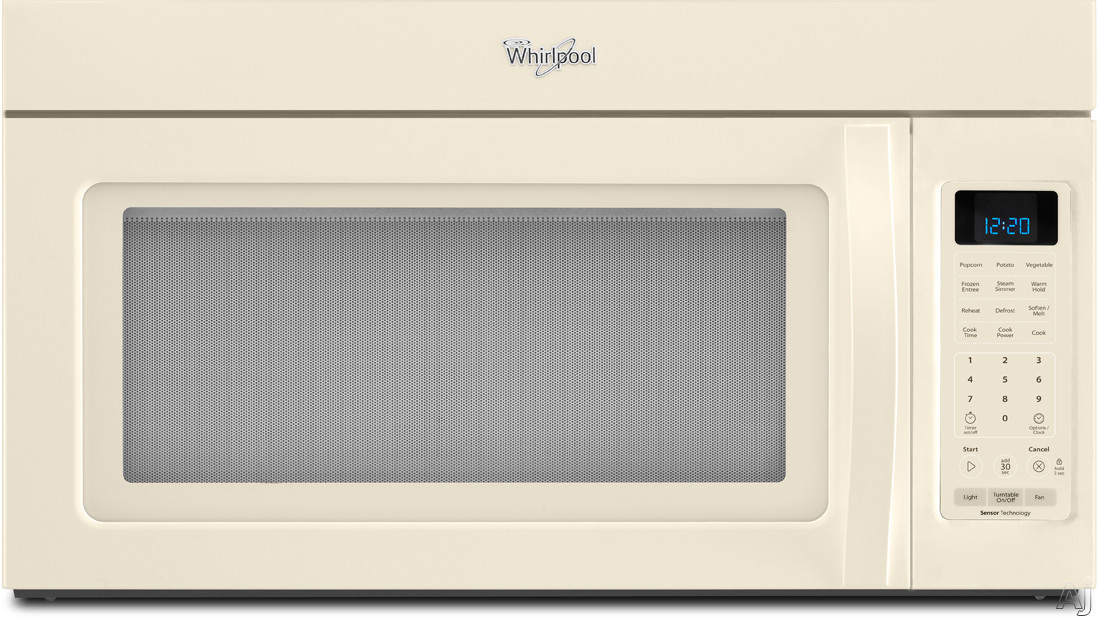 Whirlpool WMH32517AT 1.7 cu. ft. Over-the-Range Microwave Oven with 300 CFM Venting System, 1,000, U.S. & Canada WMH32517AT
