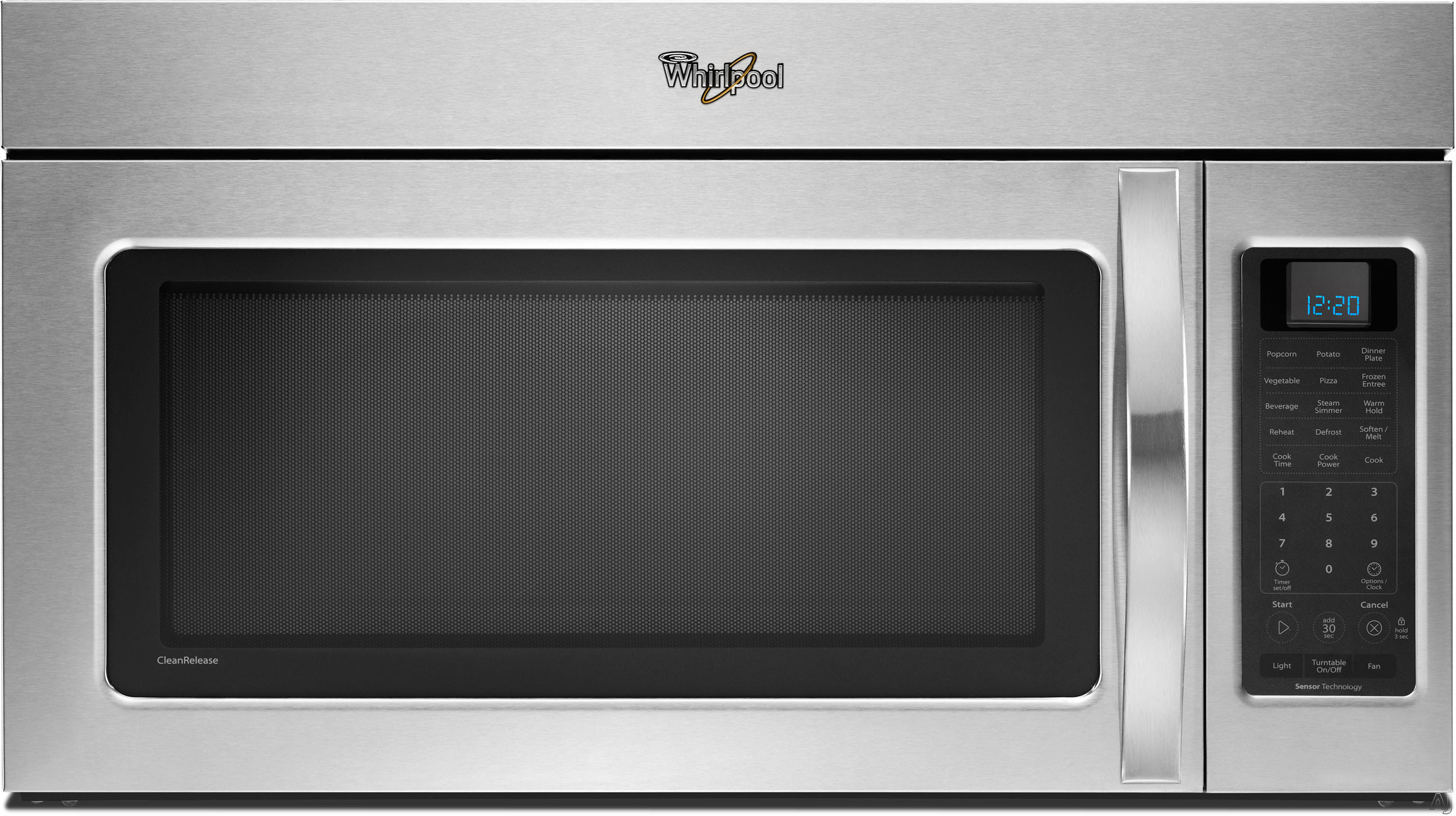 Whirlpool WMH53520AW 2.0 cu. ft. Over-the-Range Microwave Oven with 400 CFM Vent System, 4-Speed, U.S. & Canada WMH53520AW