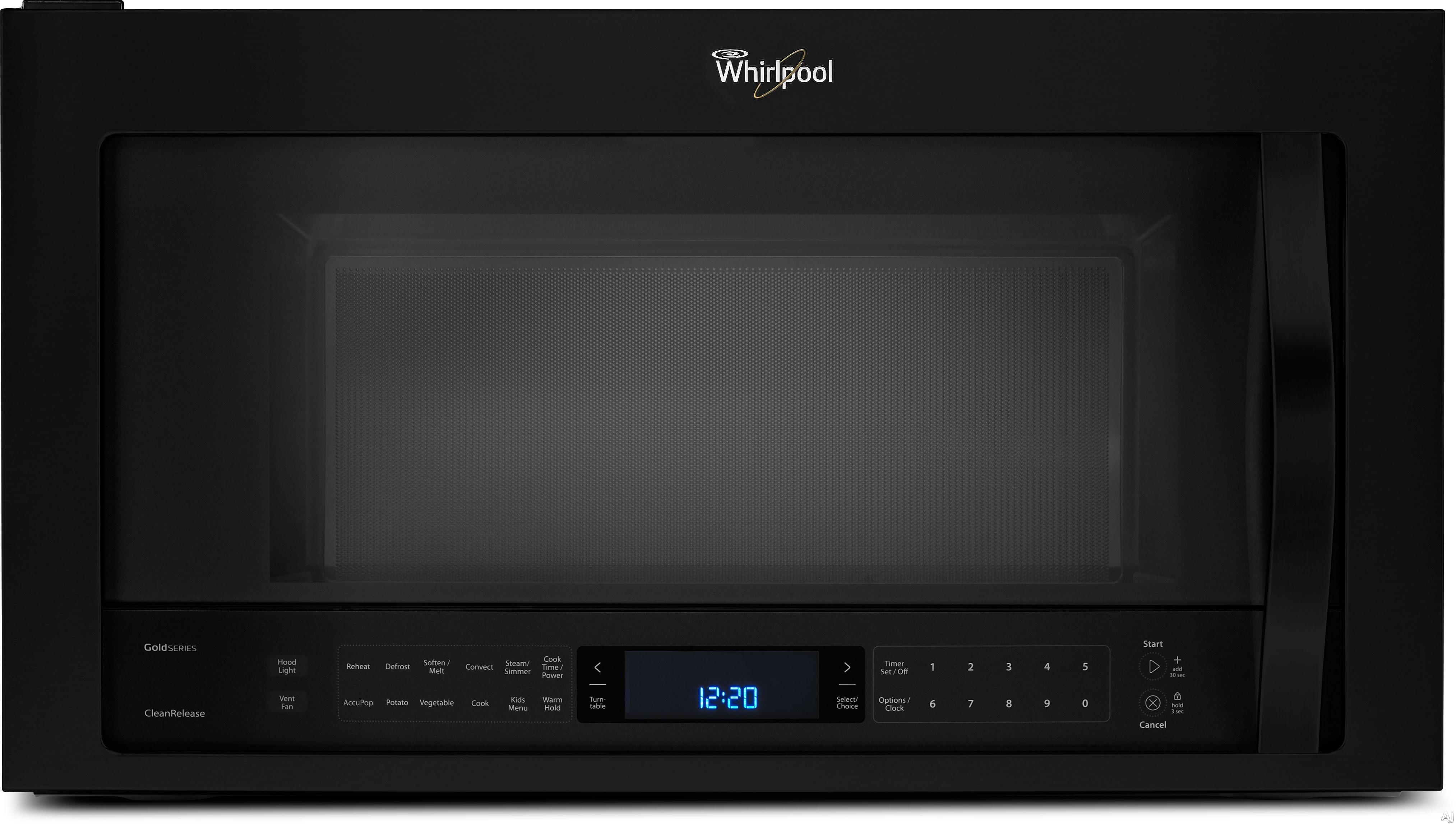 Whirlpool Wmh76719cb 1 9 Cu Ft Over The Range Microwave