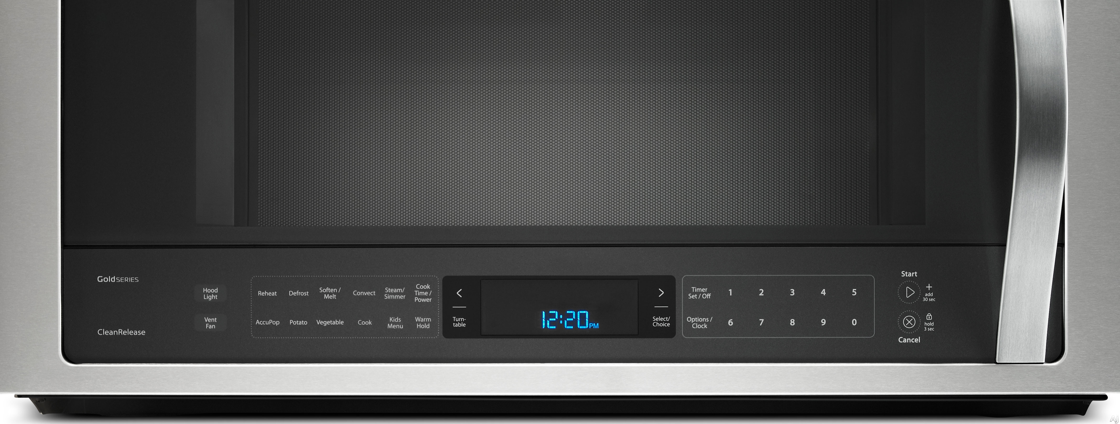 Whirlpool Wmh76719cs 1 9 Cu Ft Over The Range Microwave Oven With 400 Cfm Ventilation True