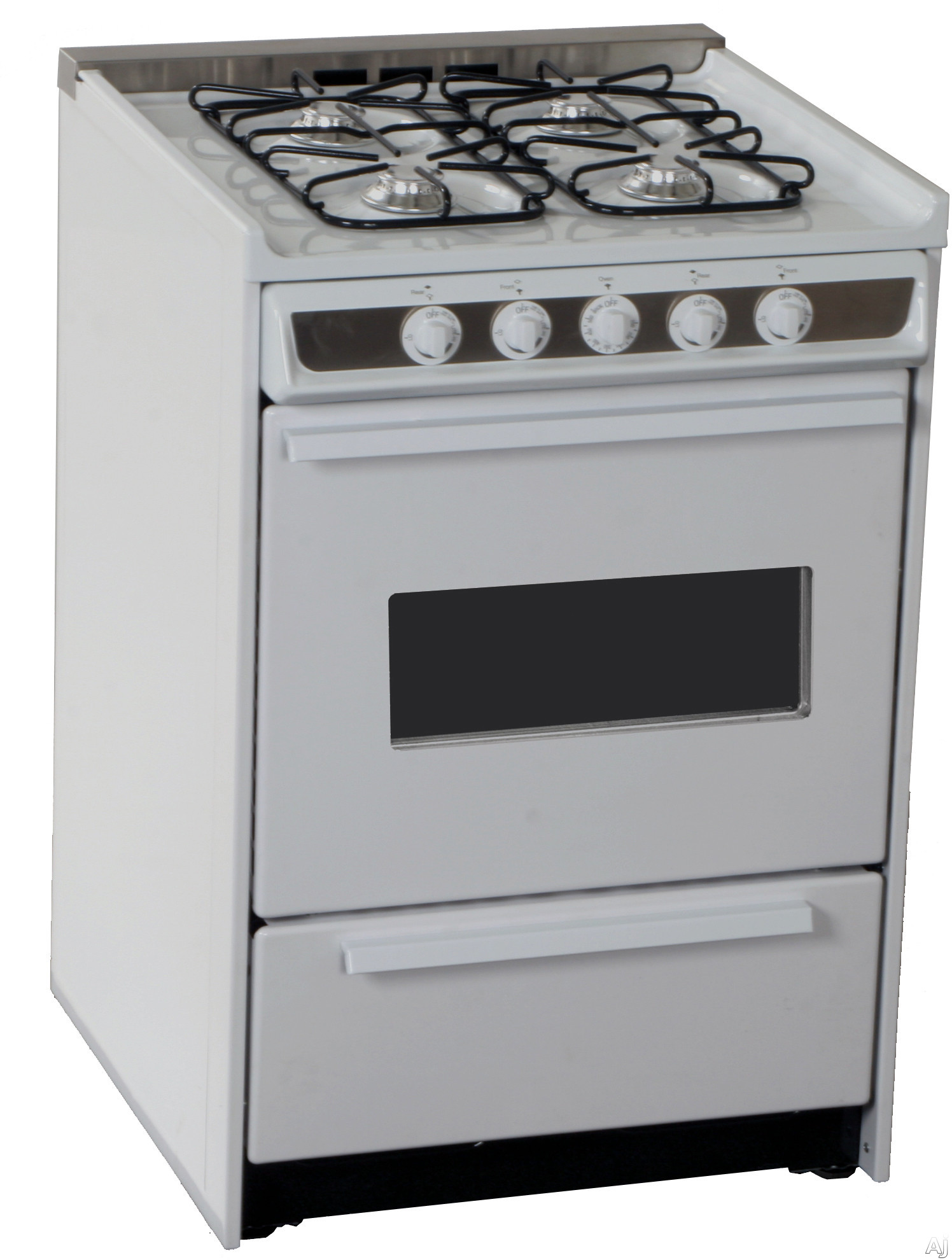 "Summit Professional Series WNM616RW 24"" Slide-In Gas Range with Manual Clean, Electronic Ignition, U.S. & Canada WNM616RW"