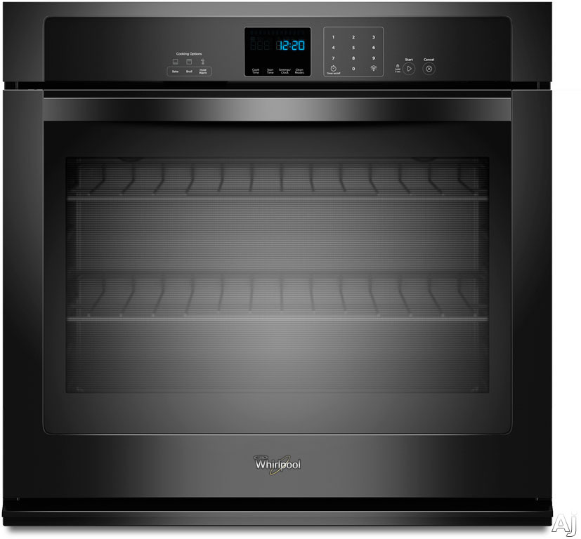 "Whirlpool WOS51EC0AB 30"" Single Electric Wall Oven with 5.0 cu. ft. Self-Cleaning Oven, SteamClean, U.S. & Canada WOS51EC0AB"