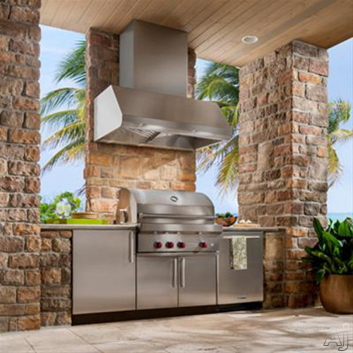 Image disclaimer for Outdoor kitchen grill hood