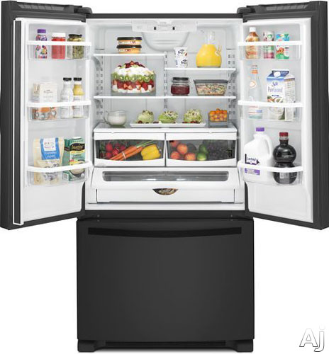 Whirlpool Wrf535smbb 24 8 Cu Ft French Door Refrigerator