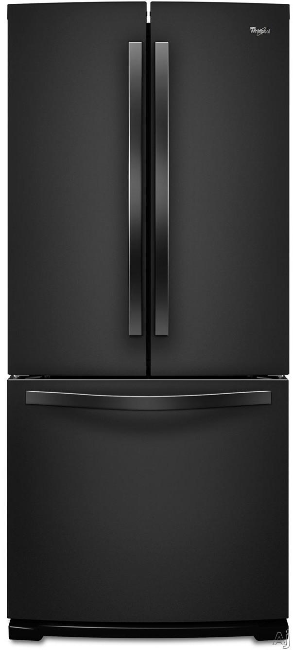Whirlpool WRF560SFYB 19.6 cu. ft. French Door Refrigerator with SpillSaver Glass Shelves, 2, U.S. & Canada WRF560SFYB
