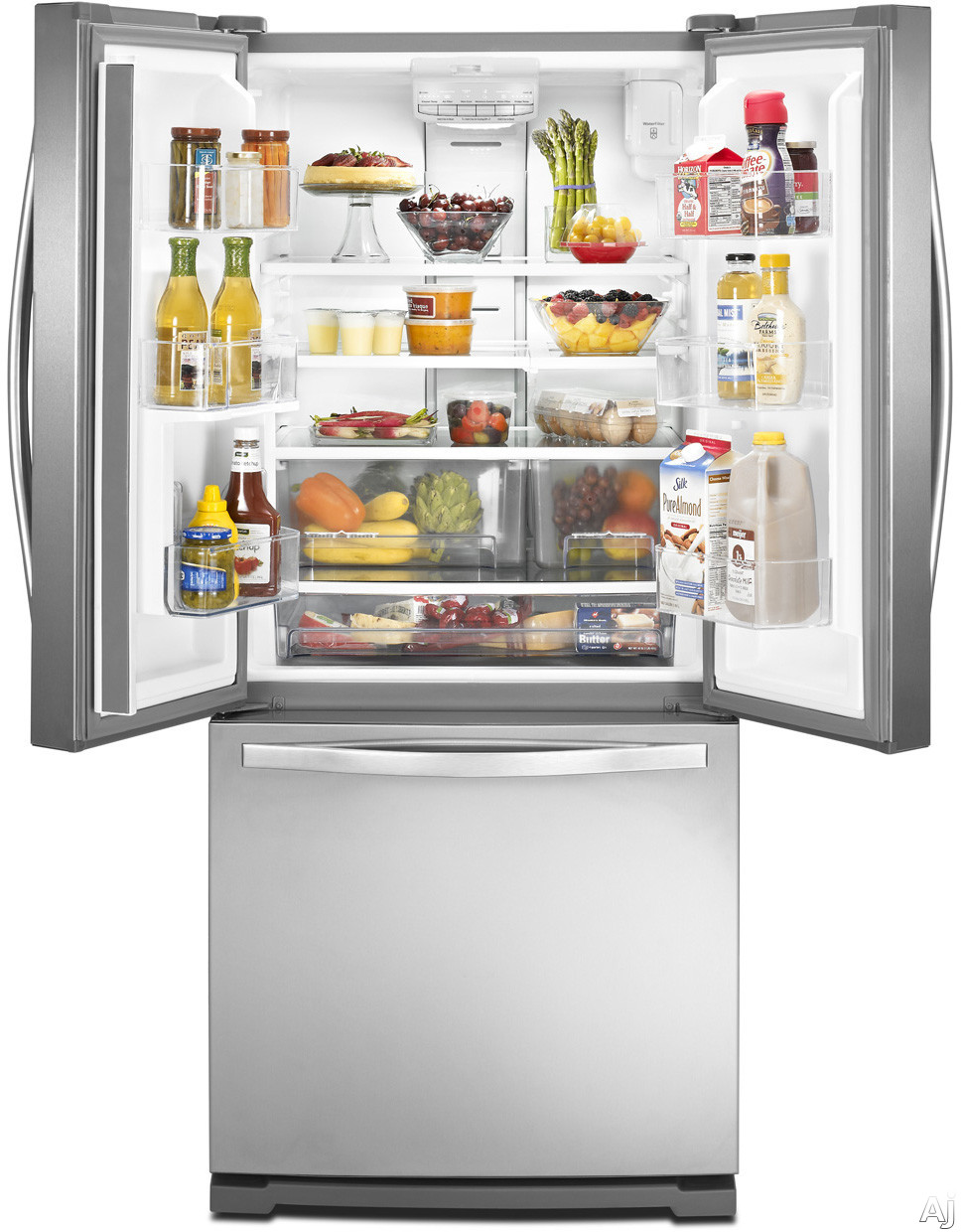 Whirlpool wrf560smyw 19 6 cu ft french door refrigerator for 19 6 cu ft french door refrigerator