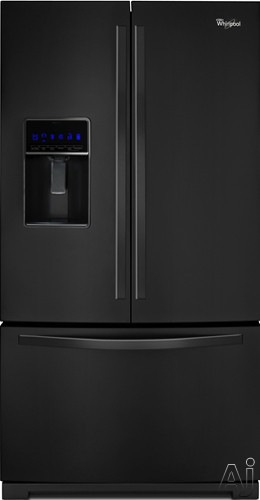 Whirlpool WRF736SDAB 36 Inch French Door Refrigerator with Fast Ice, Pizza Pocket, External Dispenser, MicroEdge Shelves, In Door Ice System, Fold-Away Shelf, ADA Compliant and Energy Star Rated: Black