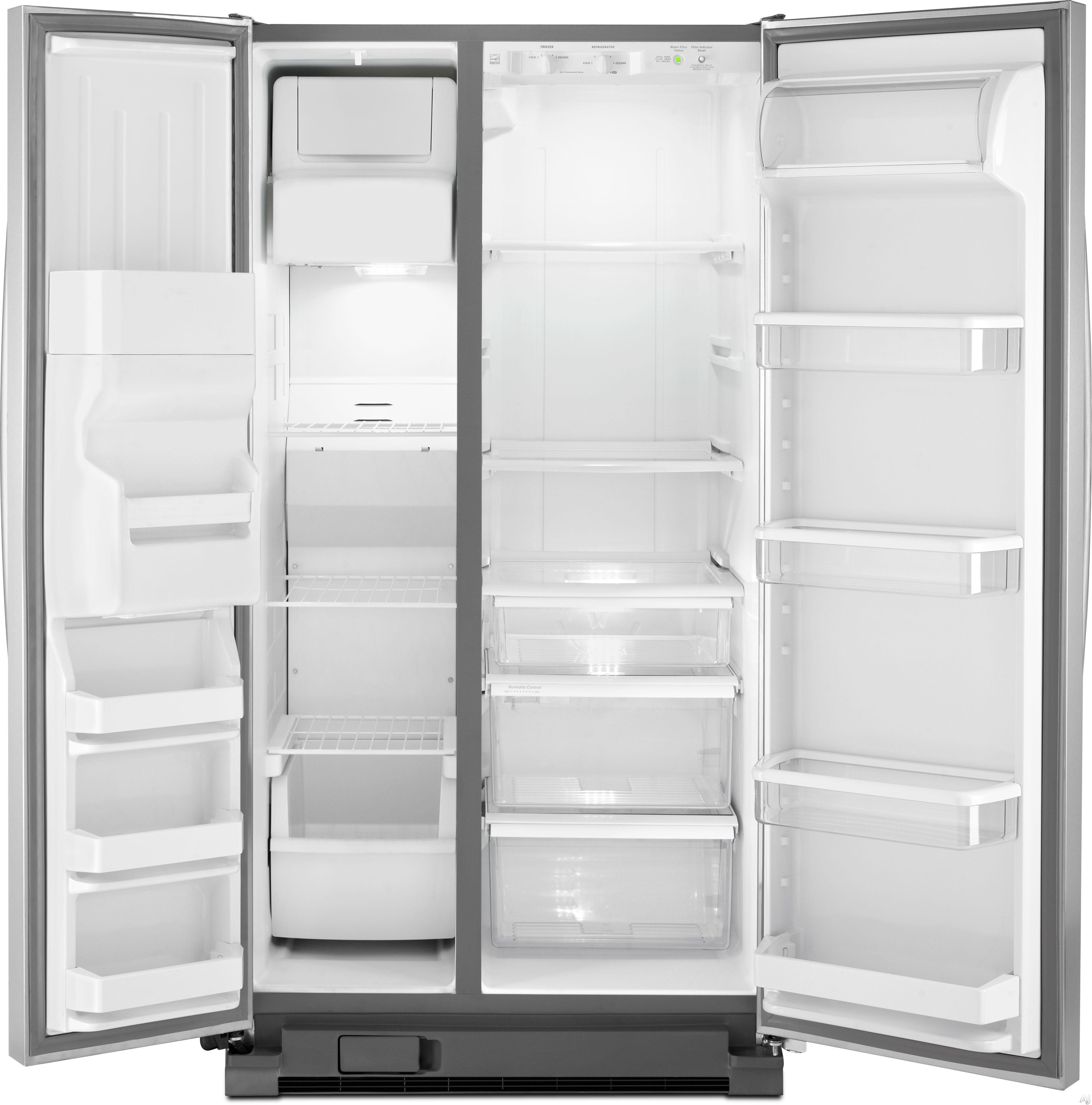 whirlpool wrs325fda 25 4 cu ft side by side refrigerator. Black Bedroom Furniture Sets. Home Design Ideas
