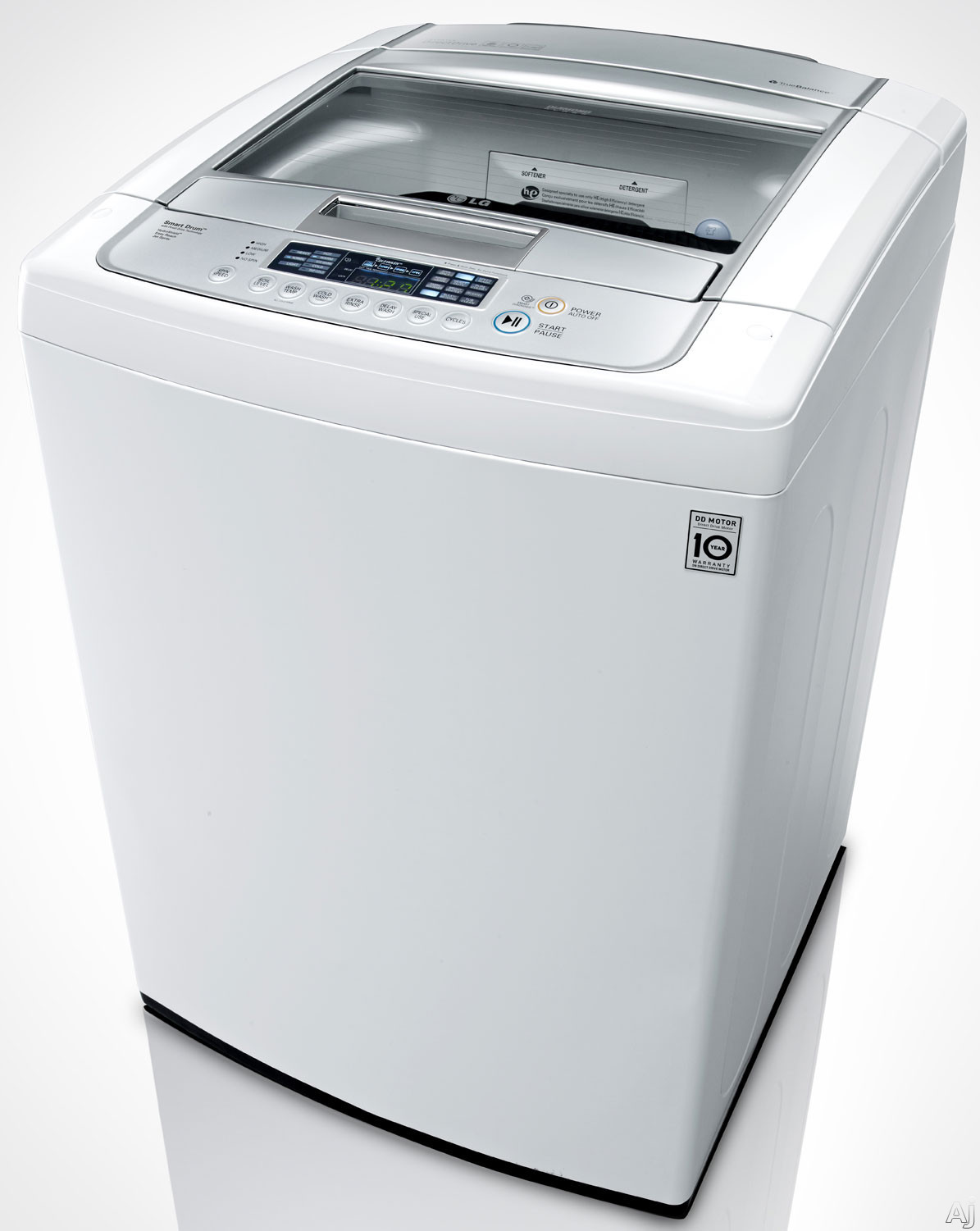 lg wt1201cw 27 top load washer with 4 5 cu ft capacity 8 wash programs 9 options 1 100 rpm. Black Bedroom Furniture Sets. Home Design Ideas