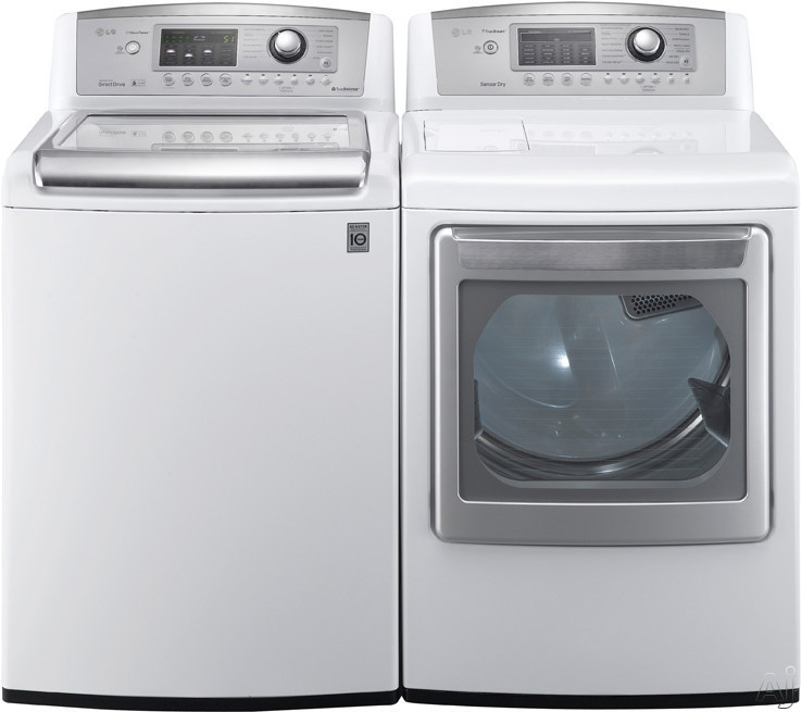 """LG Wave Series WT5070CW 27"""" Top-Load Washer with 4.7 cu. ft. Capacity, 12 Wash Cycles, 12 Options, U.S. & Canada WT5070CW"""