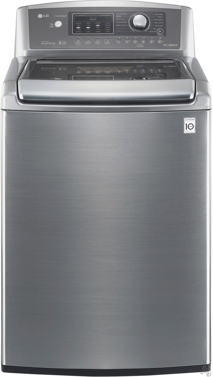 """LG Wave Series WT5170HV 27"""" Top-Load Washer with 4.7 cu. ft. Capacity, 14 Wash Cycles, 12 Options, U.S. & Canada WT5170HV"""
