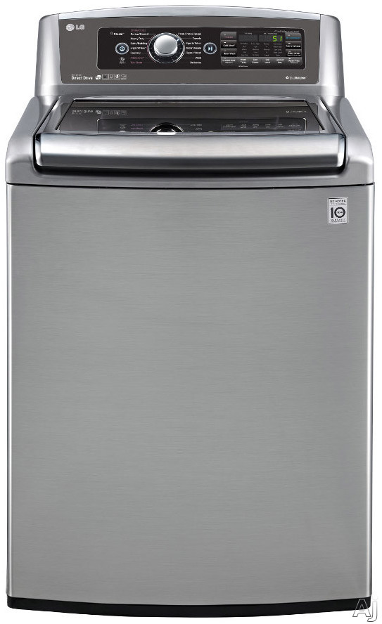 LG TurboWash Series WT5680 27 Inch 5.0 cu. ft. Top Load Washer with 14 Wash Cycles, 1,100 RPM, Steam, TurboWash, StainCare, Allergiene Cycle, EasyLoad Door and ENERGY STAR Certification WT5680