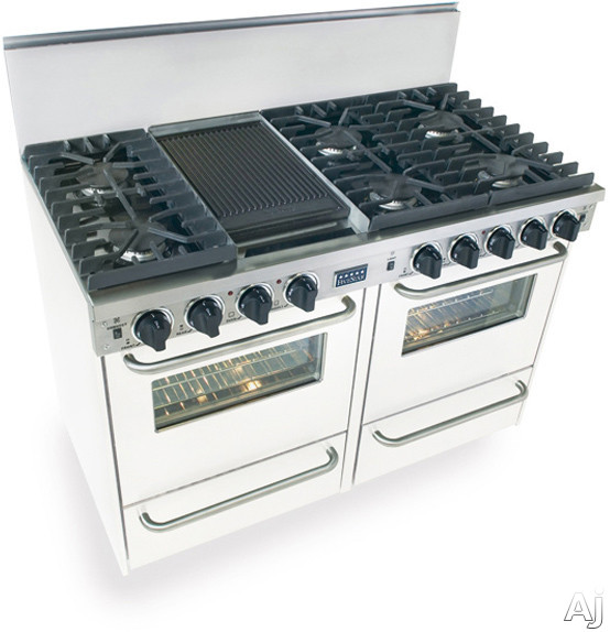 fivestar ttn5317 48 pro style natural gas range with 6
