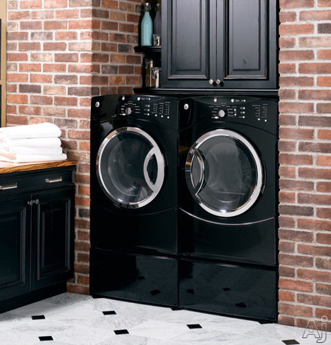 ge wcvh6600hbb 27 front load washer with 3 8 iec cu ft capacity 26 wash cycles hydrowash. Black Bedroom Furniture Sets. Home Design Ideas