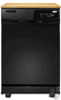 24-in Full Console Dishwasher-Black