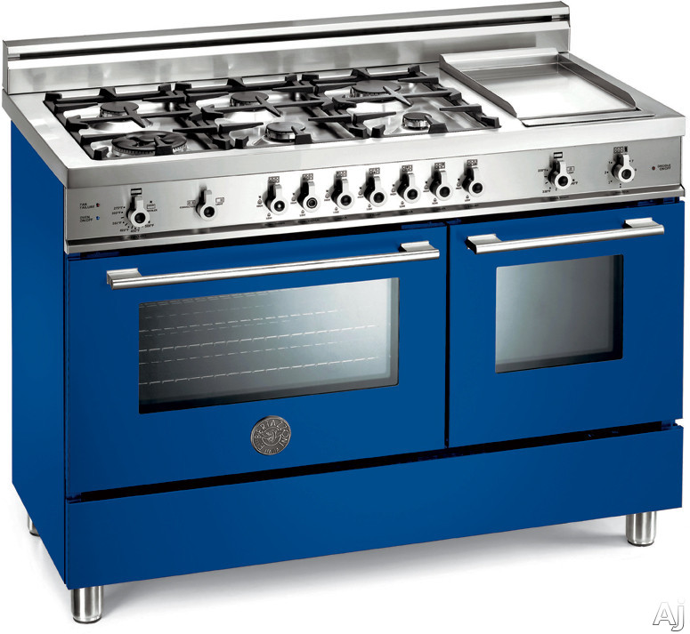 bertazzoni x486gggv 48 pro style gas range with 6 sealed burners 2 9