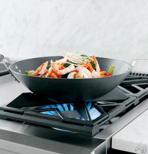 Continuous Grates, Porcelainized Cast Iron 3-Piece Reversible (Flat/Wok) Grates
