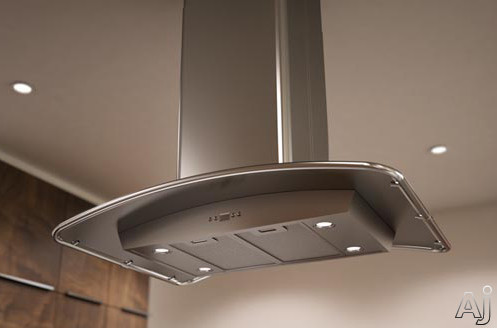 "Zephyr Europa Milano Series ZMLE42BS 42"" Island-Mount Chimney Range Hood with 715 CFM Internal, U.S. & Canada ZMLE42BS"
