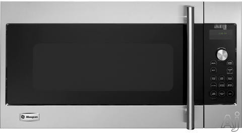 Monogram Advantium Series ZSA120RSS 17 cu ft Over the Range Speed Oven with 300 CFM Venting 900 Watts Sensor Microwave Speedcook True European Convection Warming Proofing and 120V