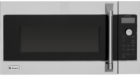 Monogram Advantium Series ZSA1202RSS 17 cu ft Over the Range Speed Oven with 300 CFM Venting 900 Watts Sensor Microwave Speedcook True European Convection Warming Proofing and 120V Professional Style