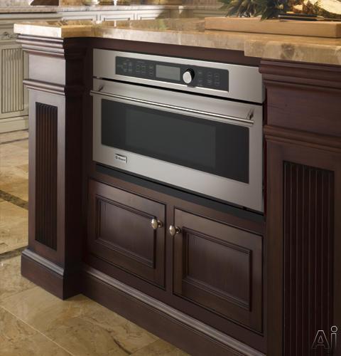 monogram zsc1201nss 30 u0026quot  single electric advantium wall oven with 1 6 cu  ft  european convection