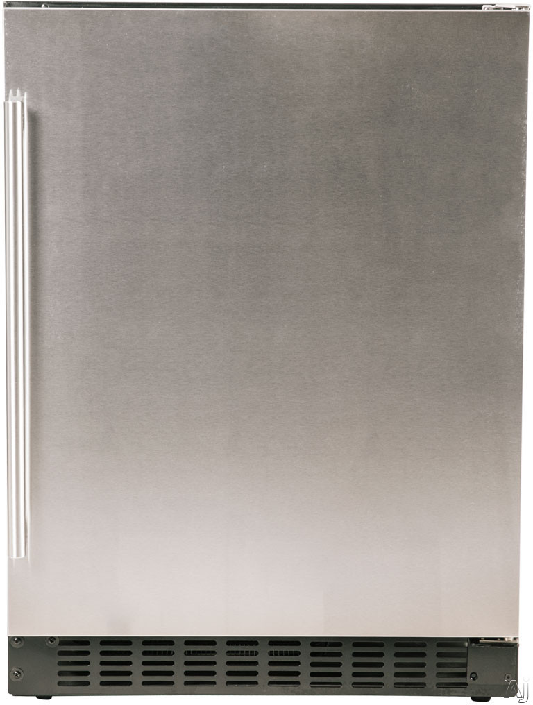 Azure A124RS 24 Inch Compact Refrigerator with Blue LED Lighting, Field Reversible Door, Auto Defrost, A.D.A. Compliant and 5.1 cu. ft. Capacity: Stainless Steel