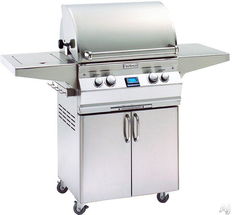 Fire Magic Aurora Collection A430S6E1N62 56 Inch Freestanding Gas Grill with 432 sq. in. Cooking Surface, 50,000 BTU, 13,000 BTU Backburner, Interior Halogen Lights and Hot Surface Ignition: Natural G
