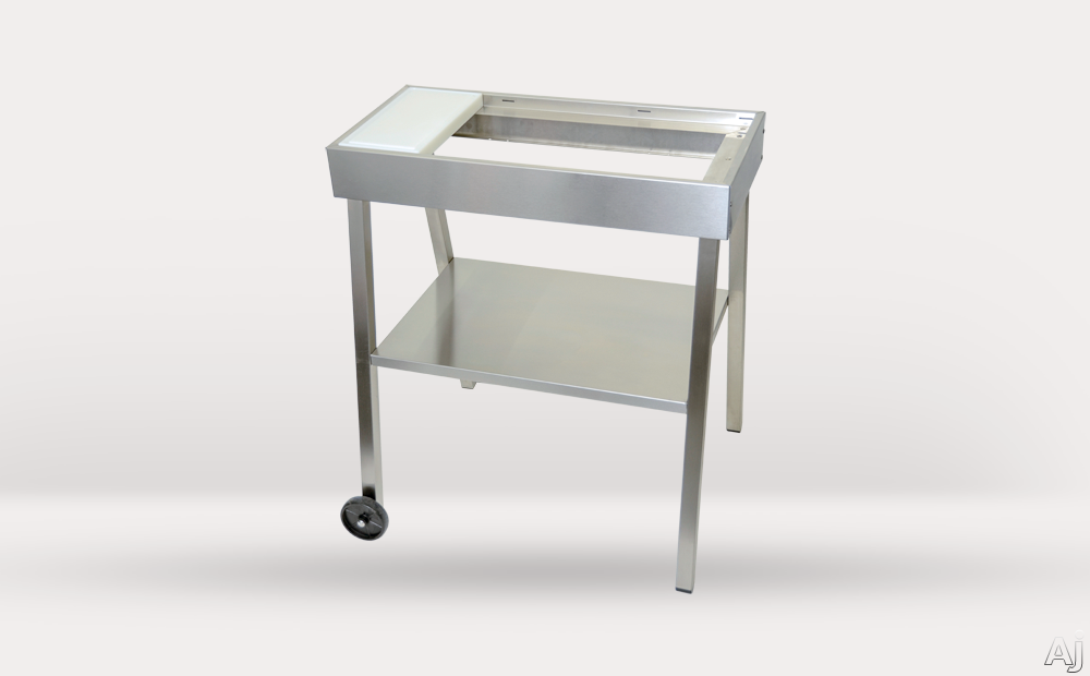 Kenyon A70026 28 1/2 Inch Stainless Steel Grill Cart with Plastic Cutting Board