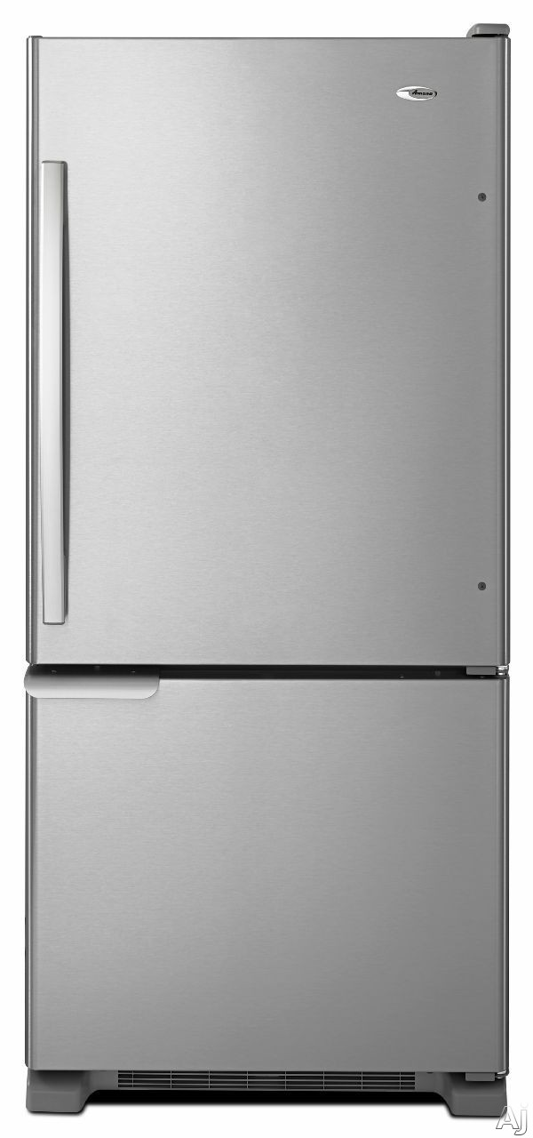 Amana ABB1921BR 18.7 cu. ft. Bottom Freezer Refrigerator with 3 Glass Shelves, 2 Produce Drawers, 4 Door Bins, Diary Compartment, Wire Freezer Shelf and Wire Freezer Basket