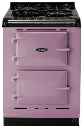 AGA ACMPLPHEA 24 Inch Cast Iron Companion Dual Fuel Range with Liquid Propane Manual Clean 4 Sealed Burners Slow Cook Oven Roasting Oven and Two Electric Ovens Heather