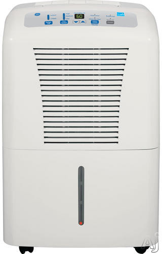 GE ADER65LS 65 Pint Capacity Dehumidifier R 410A Refrigerant 17.5 Pint Removable Bucket Capacity 3 Fan Speeds Auto Shut Off and Bucket Full Indicator Lamp