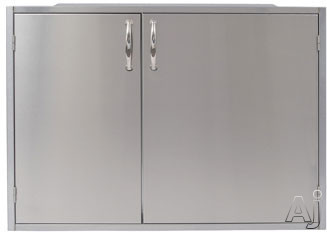 Alfresco ADSP2 Built In Sealed Dry Pantry for Outdoor Applications with Magnetically Sealed Gasketed Door Panels