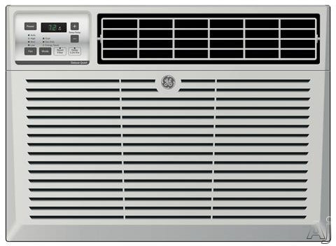 GE AEM10AT 10,150 BTU Window Air Conditioner with 11.3 EER, R-410A Refrigerant, 2.9 Pts/Hr Dehumidification, 4-Way Air Discharge, Digital Thermostat and Remote Control