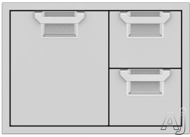 """Hestan Aspire AESDR30 30 Inch Door and Drawer Combo with Adjustable Door Alignment, Recessed Marquiseâ""""¢ Accented Panel and Commercial Grade Handles"""